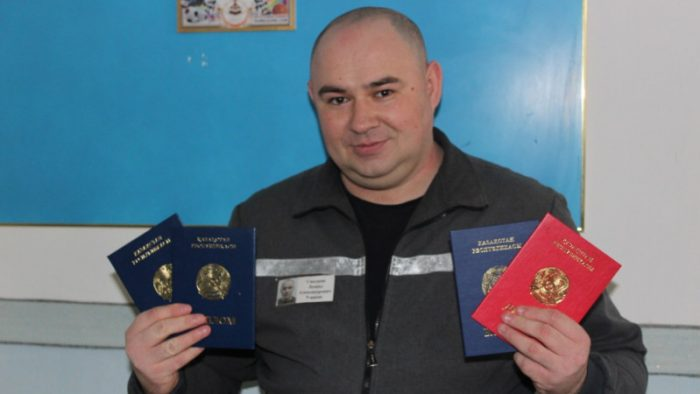 Четыре диплома за колючей проволокой получил осужденный в Костанае