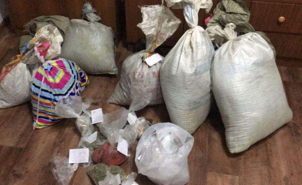Житель Алматинской области хранил дома 20 мешков с марихуаной